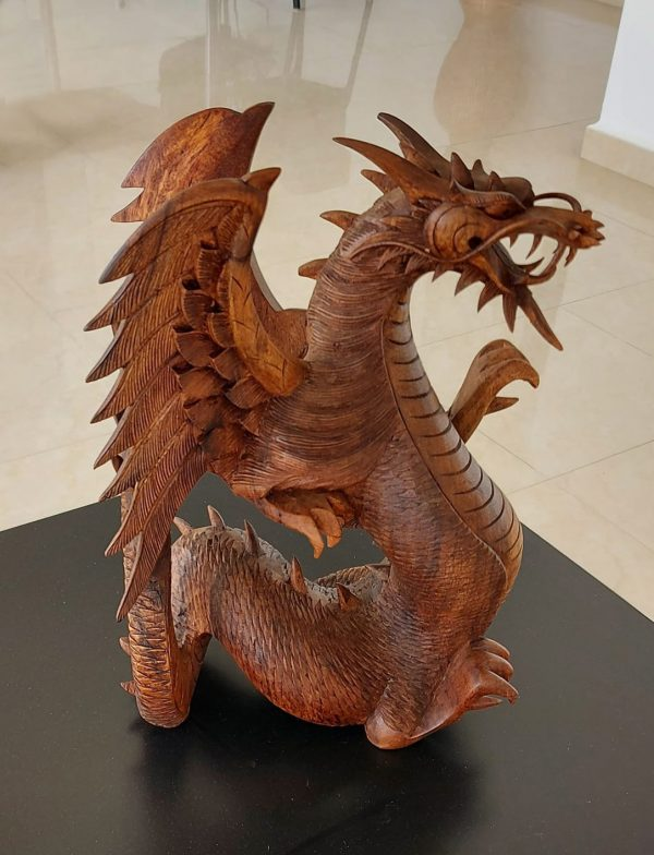 Seated Dragon Statue in Oakwood – End 19th C